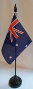 Pack of 12 Australia 10cm x 15cm Table Flags With Sticks & Bases
