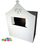 White Cardboard Play House Puppet Theatre