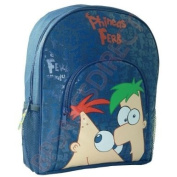 Trade Mark Collections Disney Phineas and Ferb School Backpack with Front Pocket
