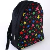 Star design Black Backpack Rucksack 38cm x 31cm school fashion