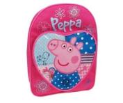 Peppa Pig Patchwork School Bag with Heart Pocket Backpack Rucksack Travel Bag
