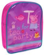 "Peppa Pig Backpack - Purple and Pink ""T for tea party"" School Nursery Bag"