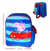 George Peppa Pig Drives Toy Car School Backpack Brand New Official Licenced Exclusive Design Peppa Theme Park