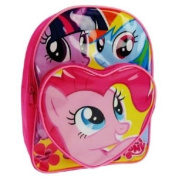 My Little Pony - Twilight Sparkle, Pinkie Pie and Rainbow Dash Pink School Backpack with Front Pocket