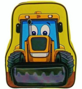JCB - My First JCB Shaped Tractor Digger Childs Medium Size Backpack with Front Pocket / Rucksack / School Bag