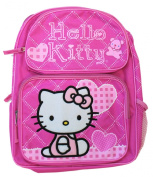 Small Pink Hello Kitty Backpack with Hearts- Small Hello Kitty School Bags