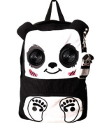 BANNED Clothing Canvas Backpack Bag PANDA Ipod Speakers School Cute