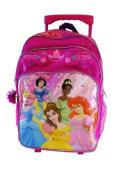 Disney Princess Large Rolling BackPack - Princesses Large Rolling School Bag