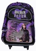 Justin Bieber Rolling BackPack - Justin Bieber Large Rolling School Bag