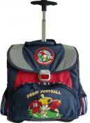 amaro 3111-70_79 Children's School Bag 34 x 38.5 x 17 cm Blue with Football Theme