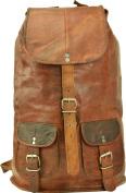 Backpack Gusti Genuine Leather Rucksack Vintage Sling Bag City Campus School Shoulder Bag Leisure Bag Brown Unisex U29