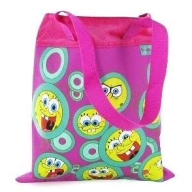 Spongebob Squarepants - Pink Shopping Bag / School Bag