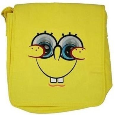 "Spongebob Squarepants - Large Yellow Despatch Bag with Lenticular ""Moving Eyes"" School Bag"