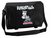 Funky Filly Pony Girls No.1 'Champion Horse Rider 'A4 School College Messenger Bag, Zip pockets, Pencil Pocket, Long Adjustable Shoulder Strap, Zip Closing Main Compartment