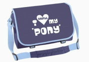 Funky Filly Horse Girls 'I love My Pony' A4 School College Messenger Bag, Zip pockets, Pencil Pocket, Long Adjustable Shoulder Strap, Zip Closing Main Compartment