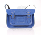 28cm Royal Blue English Satchel - Classic Retro Fashion laptop / school bag