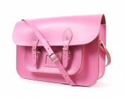 36cm Baby Pink Real Leather Satchel Co - Classic Retro Fashion laptop / school bag
