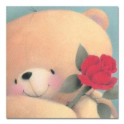 Bear with Rose Softly Drawn Forever Friends Card