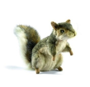Plush Soft Toy Sitting Grey Squirrel by Hansa. 5676.