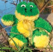 Huggables Frog Stuffed Toy Latch Hook Kit-36cm Tall