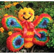 Huggables Butterfly Stuffed Toy Latch Hook Kit, 41cm Wide
