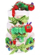 Twins 3 Tier Hungry Caterpillar Nappy Cake