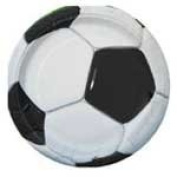 FOOTBALL PARTY PLATES X 8 - SOCCER THEME PARTY SUPPLIES [Toy]