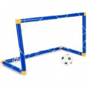Kids Childs Mini Football Soccer Goal Post Net Set Ball Indoor Outdooor Toy
