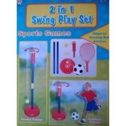 5.1cm 1 SWING TENNIS & FOOTBALL PLAYSET