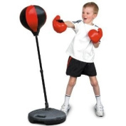 Toyrific Childs Punchball with Boxing Gloves
