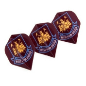 Official West Ham United FC Dart Flights - A great gift / present for men, sons, husbands, dads, boyfriends for Christmas, Birthdays, Fathers Day, Valentines Day, Anniversaries or just as a treat for and avid football fan