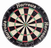 Harrows Official Competition Bristle Dartboard - Black, 45cm