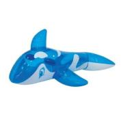 Gardenkraft Transparent Blue Whale Inflatable Rider