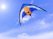 1 PROFESSIONAL SPORTY STUNT KITE DUAL LINE CONTROL OUTDOOR TOY LEISURE