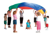 PLAY PARACHUTE 5m 16ft 15cm BY POP UP CO + BAG & 9 GAMES