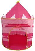 Puregadgets© Fairy Princess Tale Castle Pop Up Children's Tent with Windows and Roll Up Door Pink Girls Indoor or Outdoor