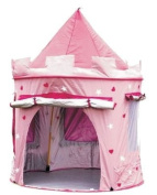 Puregadgets© Fairy Princess Tale Castle Pop Up Children's Tent with Windows and Roll Up Door Pink Girls Indoor or Outdoor Use Girls Pink Toy Play Tent / Playhouse / Den