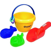 Baby's Sand Play Set with Little Foot Bucket in Carry Bag
