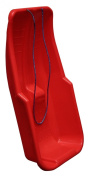 Red Plastic Snow Sled Sledge Top Quality with Rope Handle | Toboggon