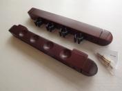 Nice atractive mahagony finish wooden 4 way 2 piece cue rack