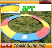 2.4m Trampoline Safety Enclosure Pad Pading Pads - Mutli Coloured