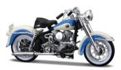 1958 Harley Davidson FLH Duo Glide [Maisto 34360-27], White/Blue, 1:18 Die Cast