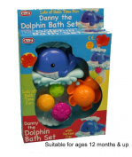 Danny the Dolphin Bath Set with Suction Cup [Toy]
