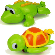 Bath Time Wind Up Swimming Crocodile or Turtle Bathtime Kids Toddler Toy