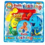 Childrens Bath Time Fun Foam Fishing Rod & Assorted Fish Set