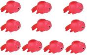 Viskey 10pcs Golden Fish Baby Bath Tub Bathing Rubber Squeaky Toys