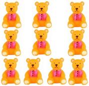 Viskey 10pcs Bears Baby Bath Tub Bathing Rubber Squeaky Toys