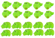 Viskey 20pcs Green Alligators Baby Bath Tub Bathing Rubber Squeaky Toys