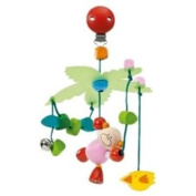 Wooden Cheeky Rascals mini Pram Mobile Toy
