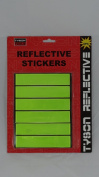6 REFLECTIVE STICKER STRIPS self adhesive bicycle reflector bike cycling trailer